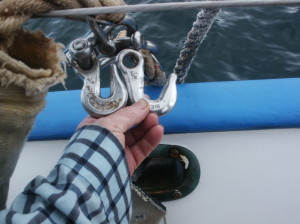 "The chain hook comparison of before and after ""Odile"". Sailors Run and crew narrowly escaped disaster."