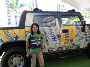 Debbie is hoping some how she gets this truck as a prize at the Mazatlan Marathon.