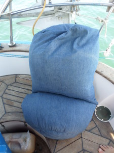 The New Bean Bag designed just for Jeff for his big trip to be comfy