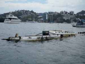 The moorings are sometimes better than the boats in Acapulco