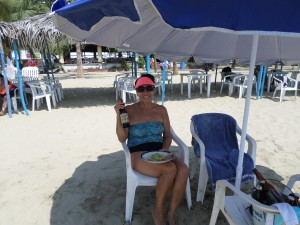 Debbie enjoying the beach's of Acapulco