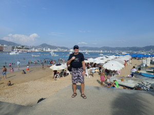 One of the Beach's in Acapulco,with friendly family faces,good food enjoying the sun as I did too