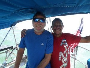CAPTAIN AND THE NEW PILOT ARIOSO HEAD FOR THE BAR CROSSING