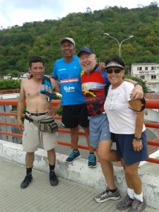 DEB & I MET OTHER RUNNERS ON THE BRIDGE AND SHARED MY ADVENTURE WITH THEM