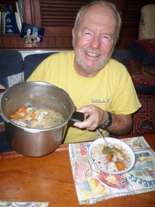 HAVE LEARNED TO COOK A REALLY GOOD CHICKEN STEW  IN OUR PRESSURE COOKER