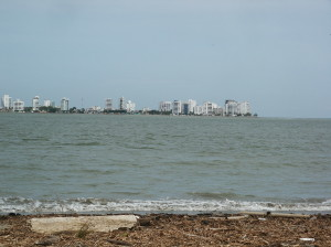 View of the Peninsula at Bahia Caraquez,Ecuadoe