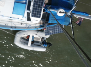 What I see below me from the top of the mast