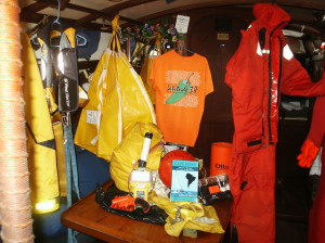 Safety Harness,Life Jackets,Flare Gun , hand-operated Watermaker & Epirb