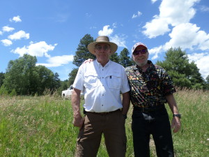 Friend John and Jeff ,Pagosa Springs,Colorado