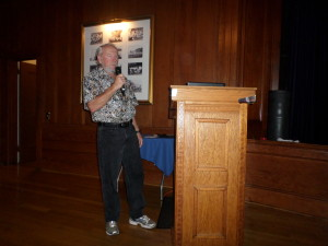 Jeff doing his Talk/slide show at Corinthian Yacht Club in San Francisco,Ca