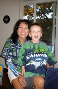 Jacob and Grandma Debbie #GO HAWKS
