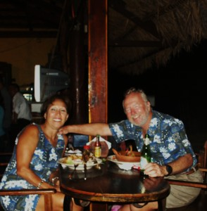 Having a great time at Restaurant Porlamar,San Lorenzo, Honduras