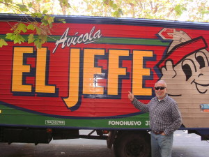 Found this on the streets of Uruguay 2010, so now El Jefe signs his name this way