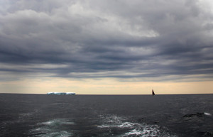 A Picture online view imaging Sailors Run going by the Huge Ice Berg they saw