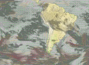 Map of South America where Jeff is getting close to Cape Horn and it shows the wind direction,