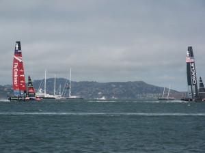 US WATCHING ORACLE-EMIRATES RACING ON SAN FRANCISCO BAY