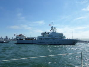 Saw Google's co founder Larry Pages yacht on San Francisco Bay