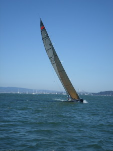 Fine sailing on San Francisco Bay at the America's Cup day
