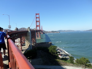 WALKED THE GOLDEN GATE BRIDGE ACROSS FROM SAUSALITO TO WATCH THE AMERICA'S CUP