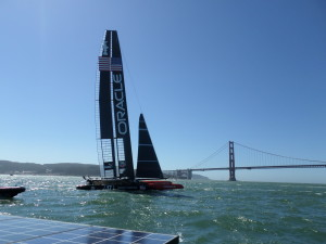 ON OUR FRIENDS BOAT BEING SO CLOSE TO TAKE THIS PICTURE OF ORACLE ON THE BAY