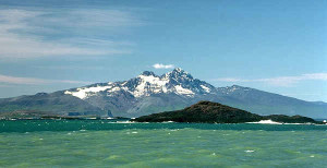 THE ISLAND OF KERGUELEN WITH IT'S RUGGED SNOW PEAKS