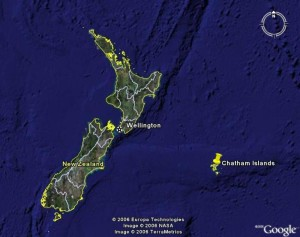 THE CHATHAM ISLANDS EAST OF NEW ZEALAND