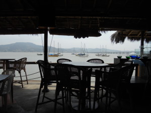 Puerto Amistad Yacht Club where jeff hopes to be sitting drinking a beer &  looking out at his boat