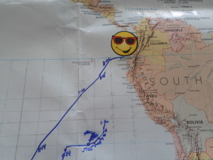 YAHOO,YIPPEE!! SAILORS RUN AND JEFF GETTING CLOSER TO BAHIA CARAQUEZ, ECUADOR
