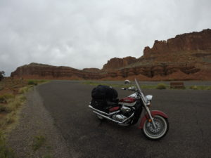 Motorcyle parked in Utah