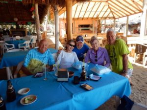 (L-R) A 76 yr old cruising couple,Jeff, Gina & Dr Bruce of Dream Catcher